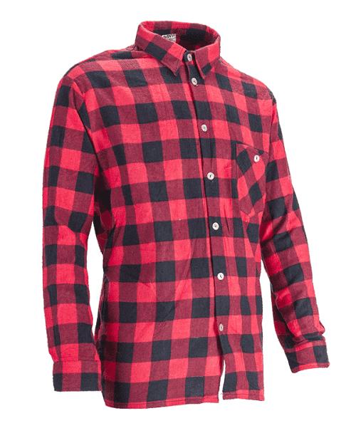 koszula czerwone w kratę